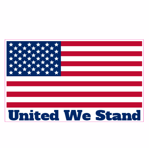 One nation american flag. Patriotic clipart united we stand
