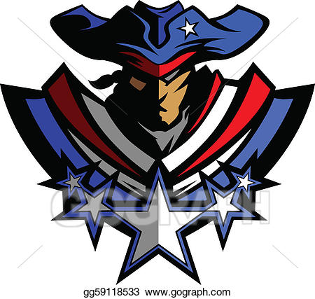 Eps illustration patriot mascot. Patriots clipart