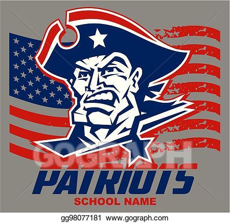 Vector illustration mascot eps. Patriots clipart design