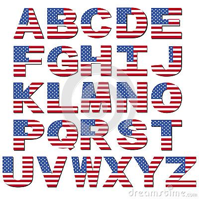 Patriots clipart lettering. American flag font us