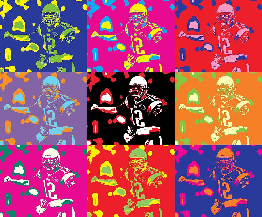 Patriots clipart pop art. Tom brady