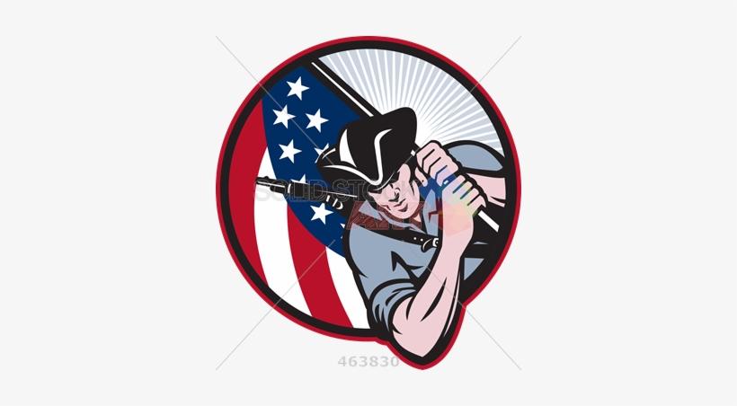 Stock illustration of cartoon. Patriots clipart retro