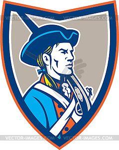 Patriots clipart retro. American patriot musket side