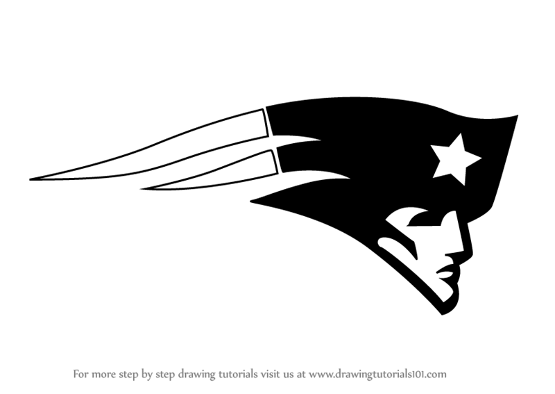 Learn how to draw. Patriots clipart step by step