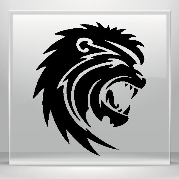 Simple color vinyl lion. Patriots clipart tribal