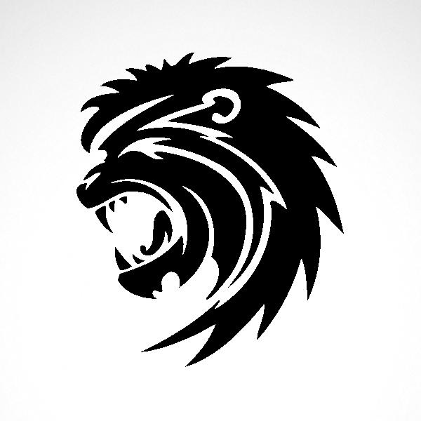 Patriots clipart tribal. Simple color vinyl lion