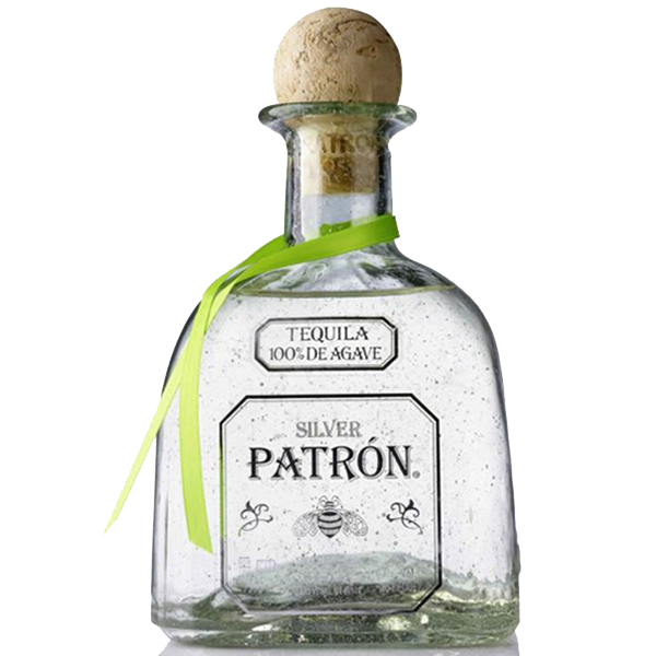 Tequila silver . Patron bottle png