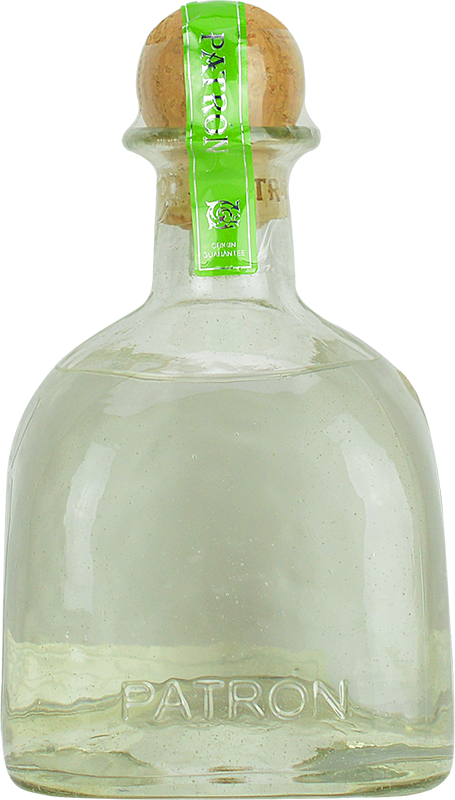 Personalised silver tequila engraved. Patron bottle png