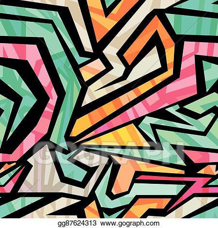 Vector seamless on a. Pattern clipart abstract