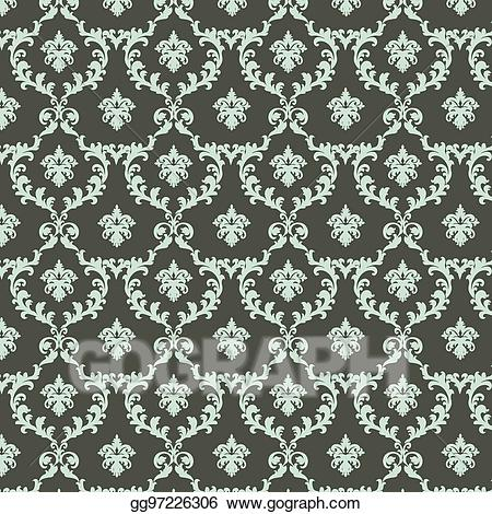Pattern clipart classic. Vector art vintage royal