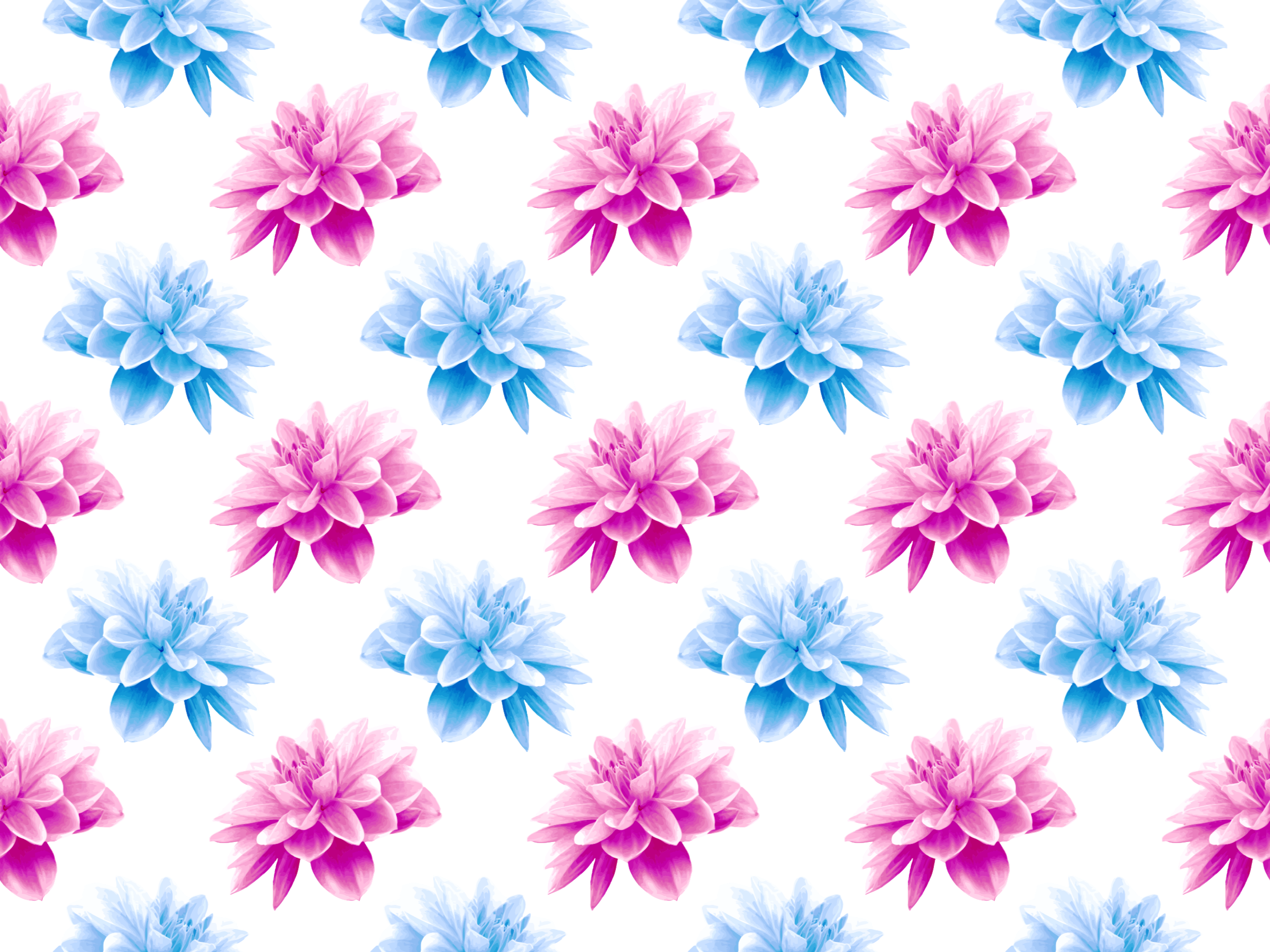 Flower pattern png. Clipart fuller colours big