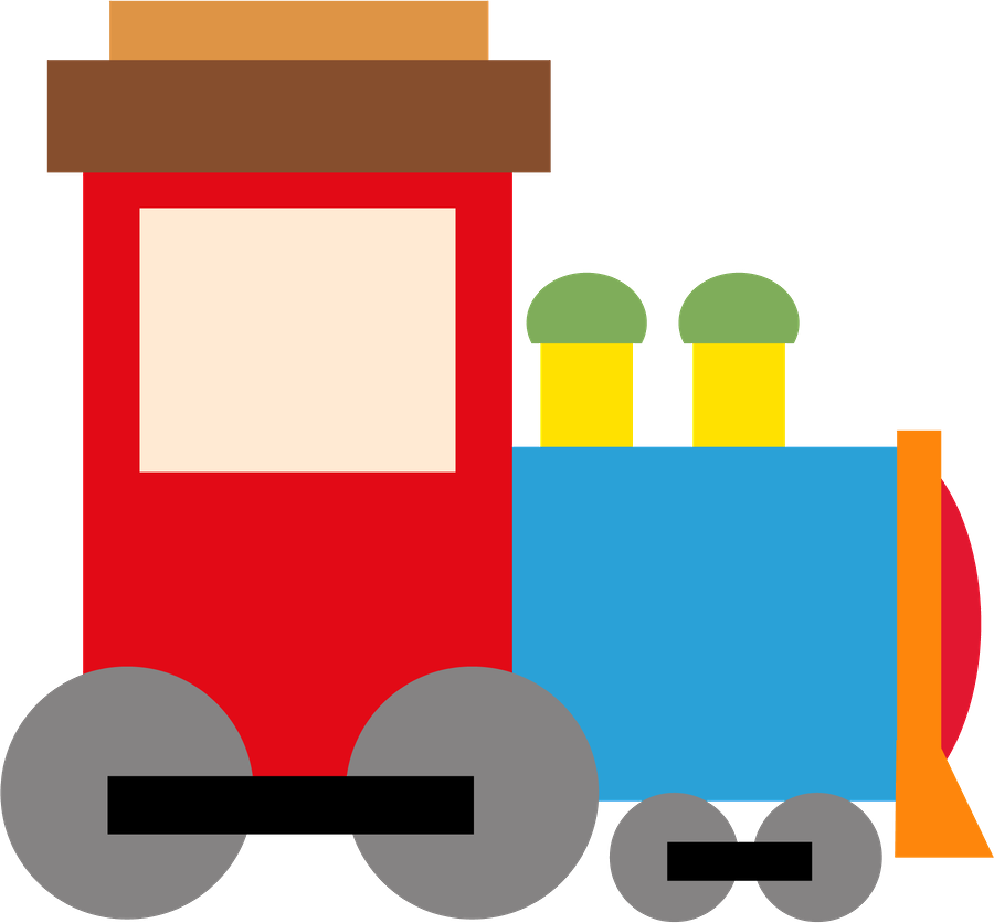 Pattern clipart toy. Trem minus carros infantil