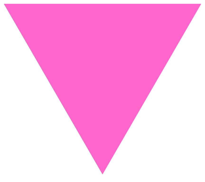File pink triangle svg. Triangular clipart banner
