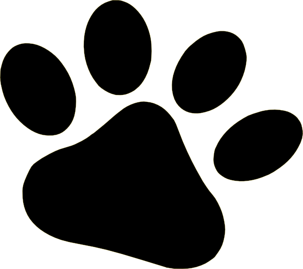 Wildcat clipart claw. Dog paw