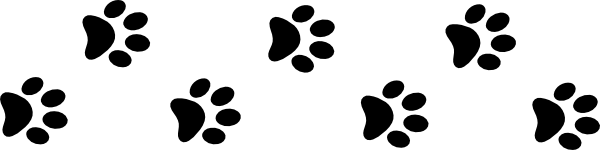 Paw clipart anime dog. Animated paws library clip