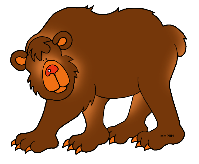 Paw clipart badger. Grizzly real bear free