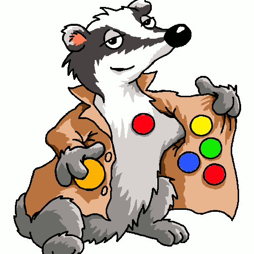 Paw clipart badger. Badge r s a