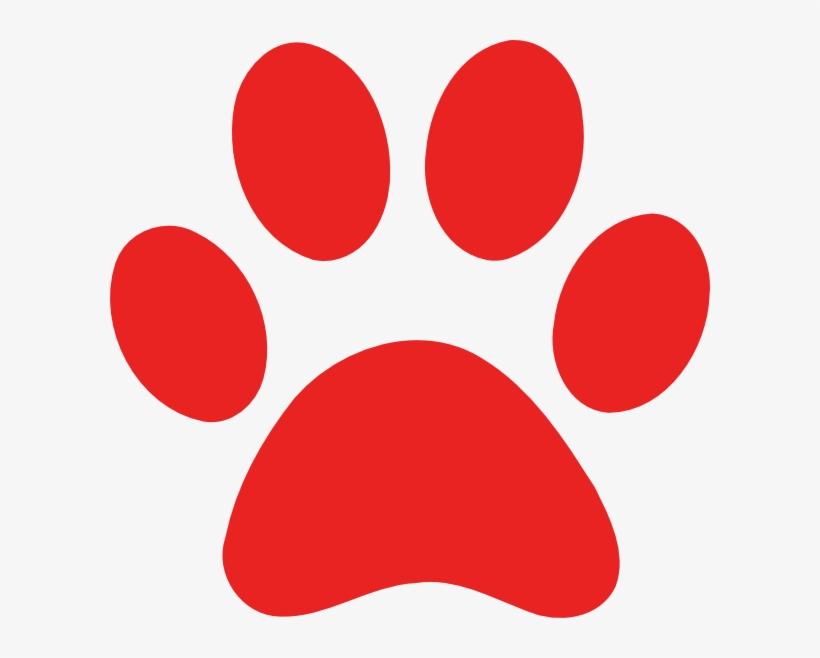 Red dog print free. Paw clipart big