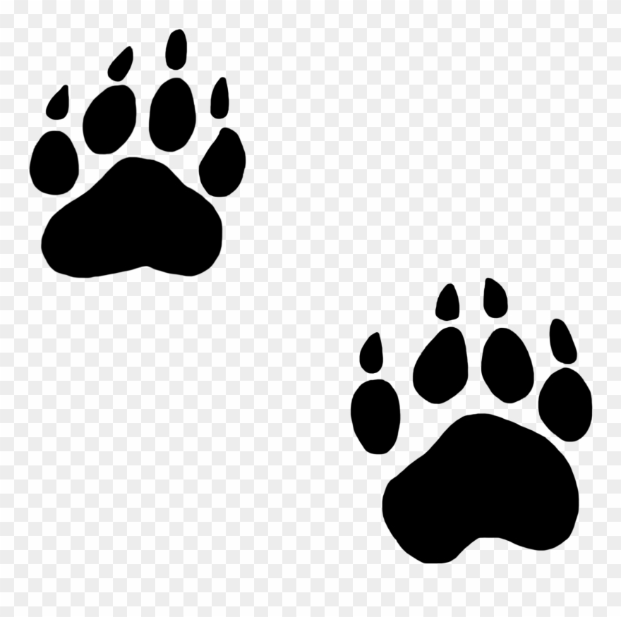 Paw clipart black bear. Excellent decoration dog print