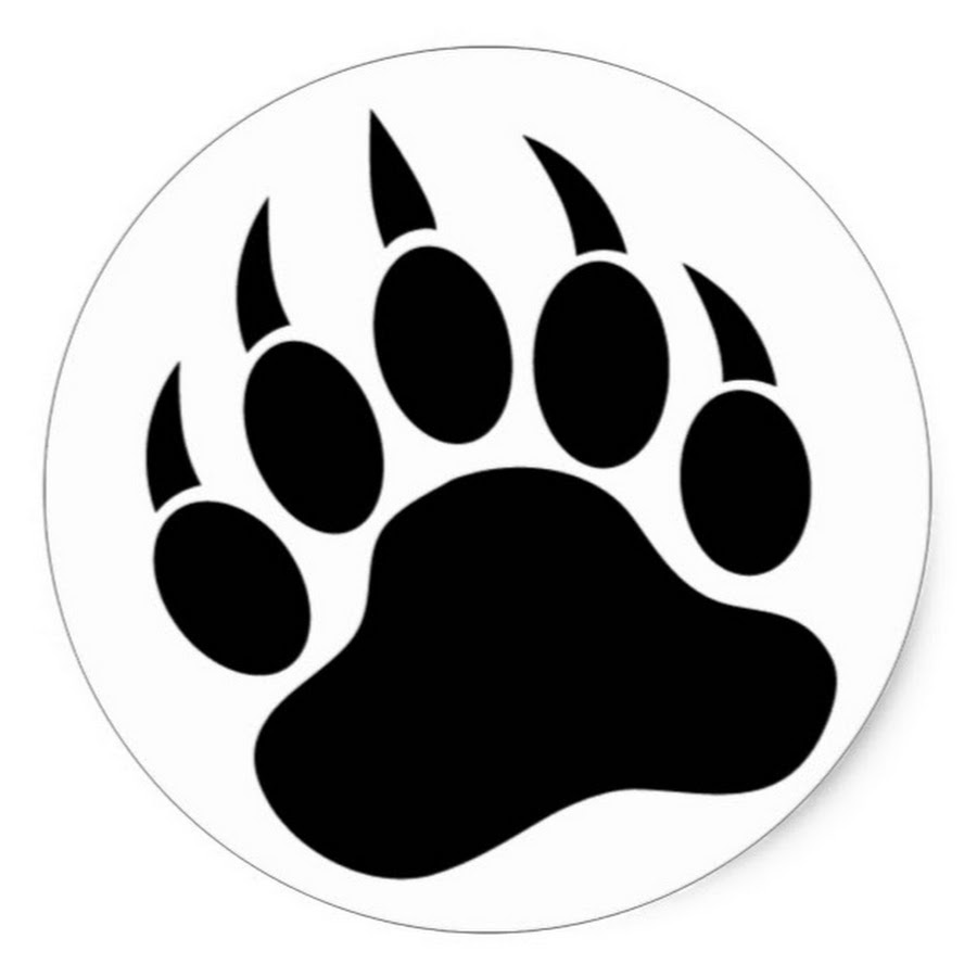Download grizzly prints american. Paw clipart black bear