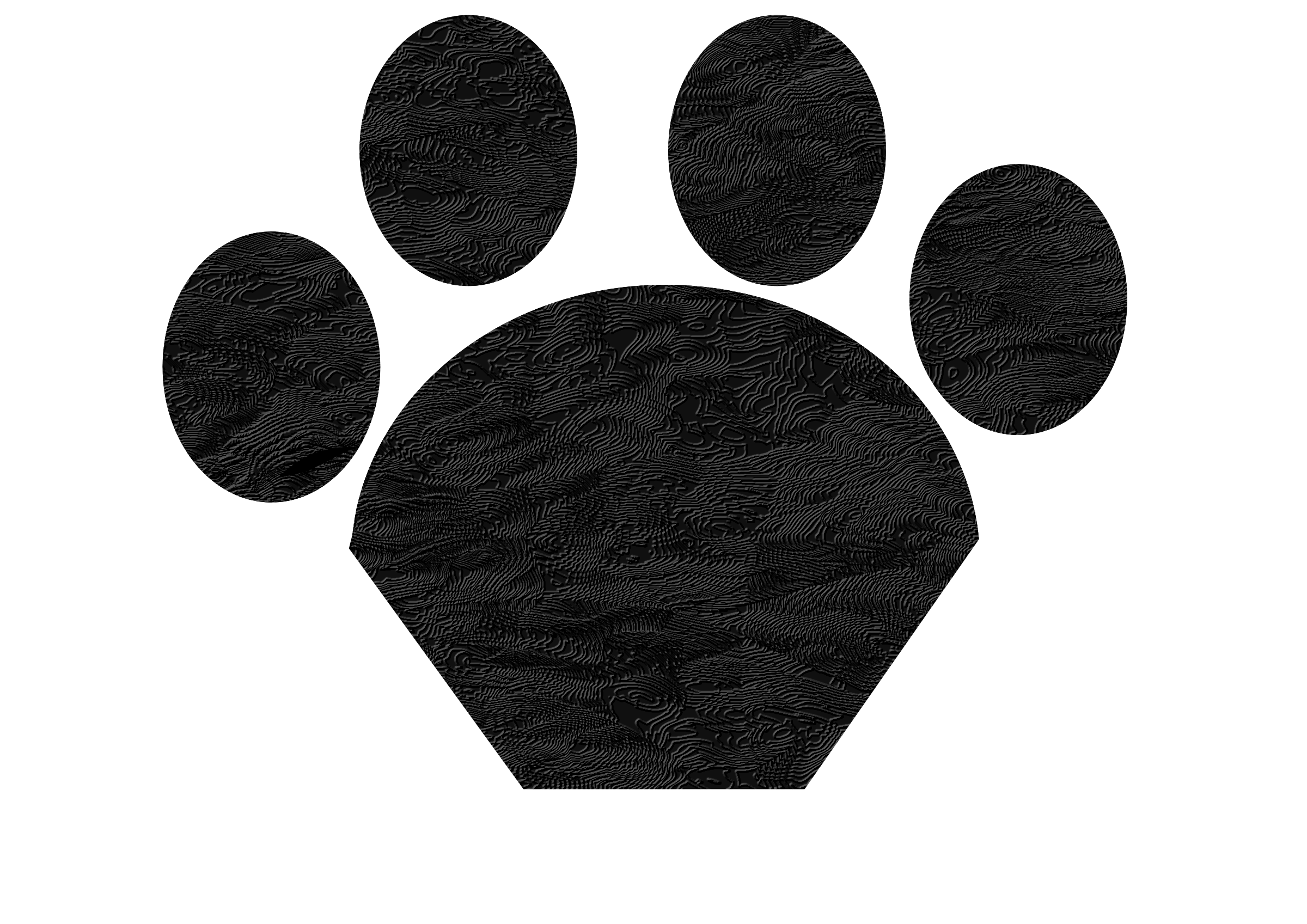 Paws clipart domestic cat. Black paw big image