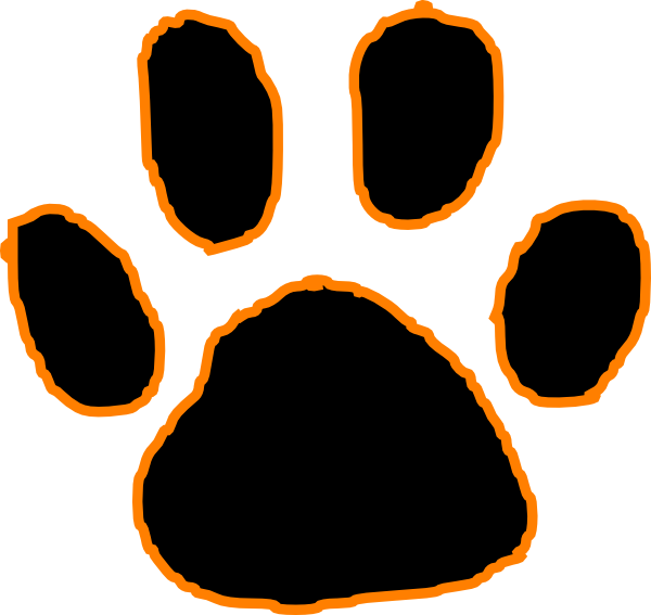 Paws clipart dow. Bengal paw print frees