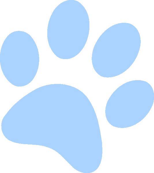 Light blue clip art. Paw clipart bull dog