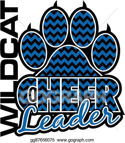 Clip art vector cheerleader. Wildcat clipart cheer