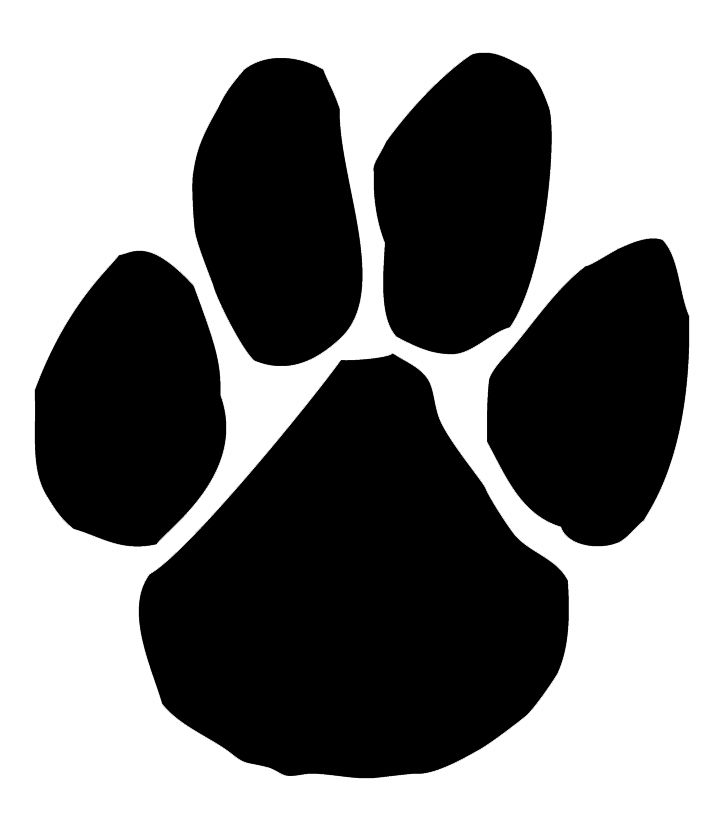 Pawprint clipart panther. Paws vbs paw print