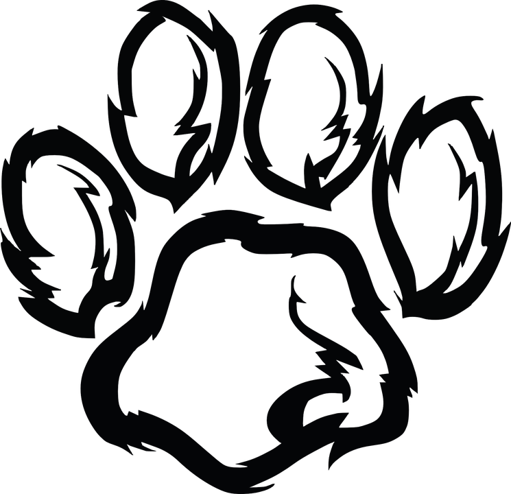 Paw clipart clear background. Furry print transparent png