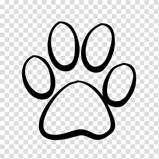 Paws clipart coyotes. Black paw print illustration