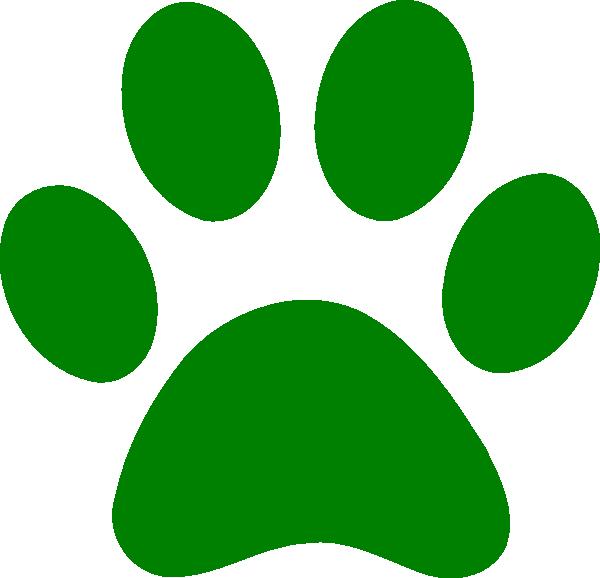 Wildcat clipart paw print. Green clip art at
