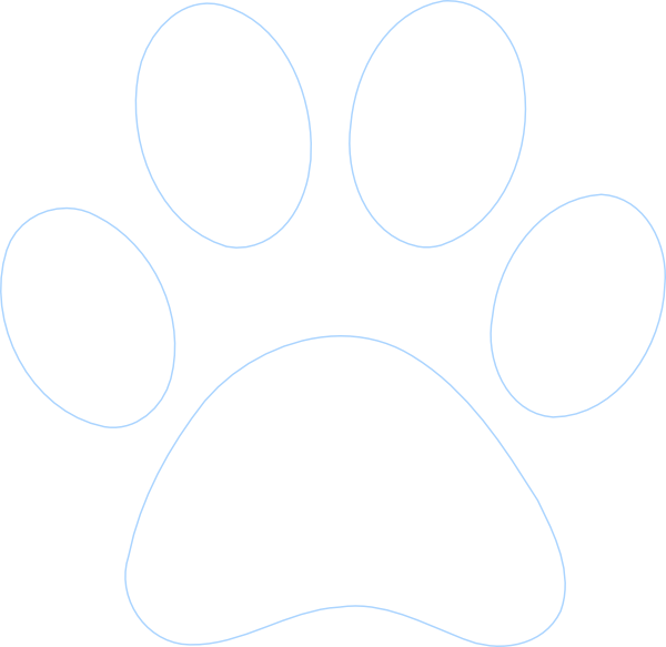 Paw print outline free. Pawprint clipart panther