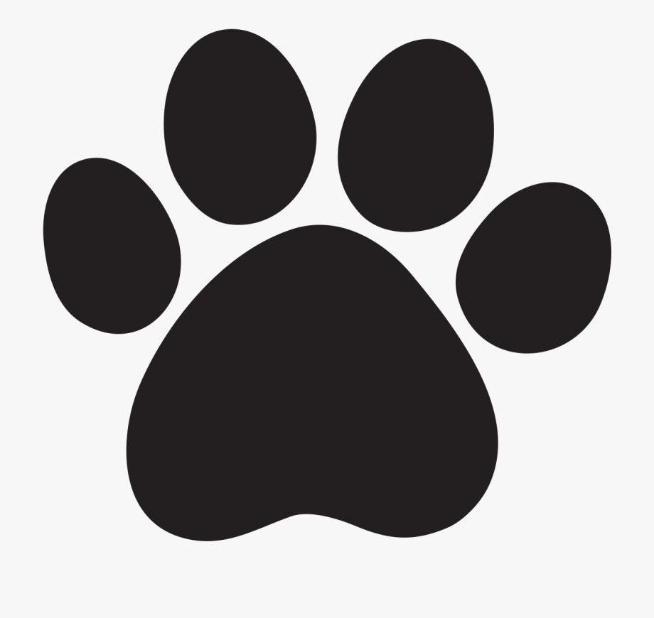 Paws clipart dow. Paw print free download