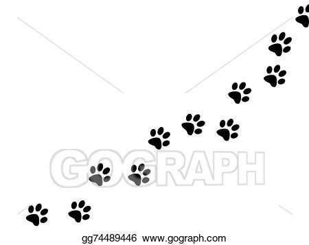 Print gg gograph . Paw clipart drawing