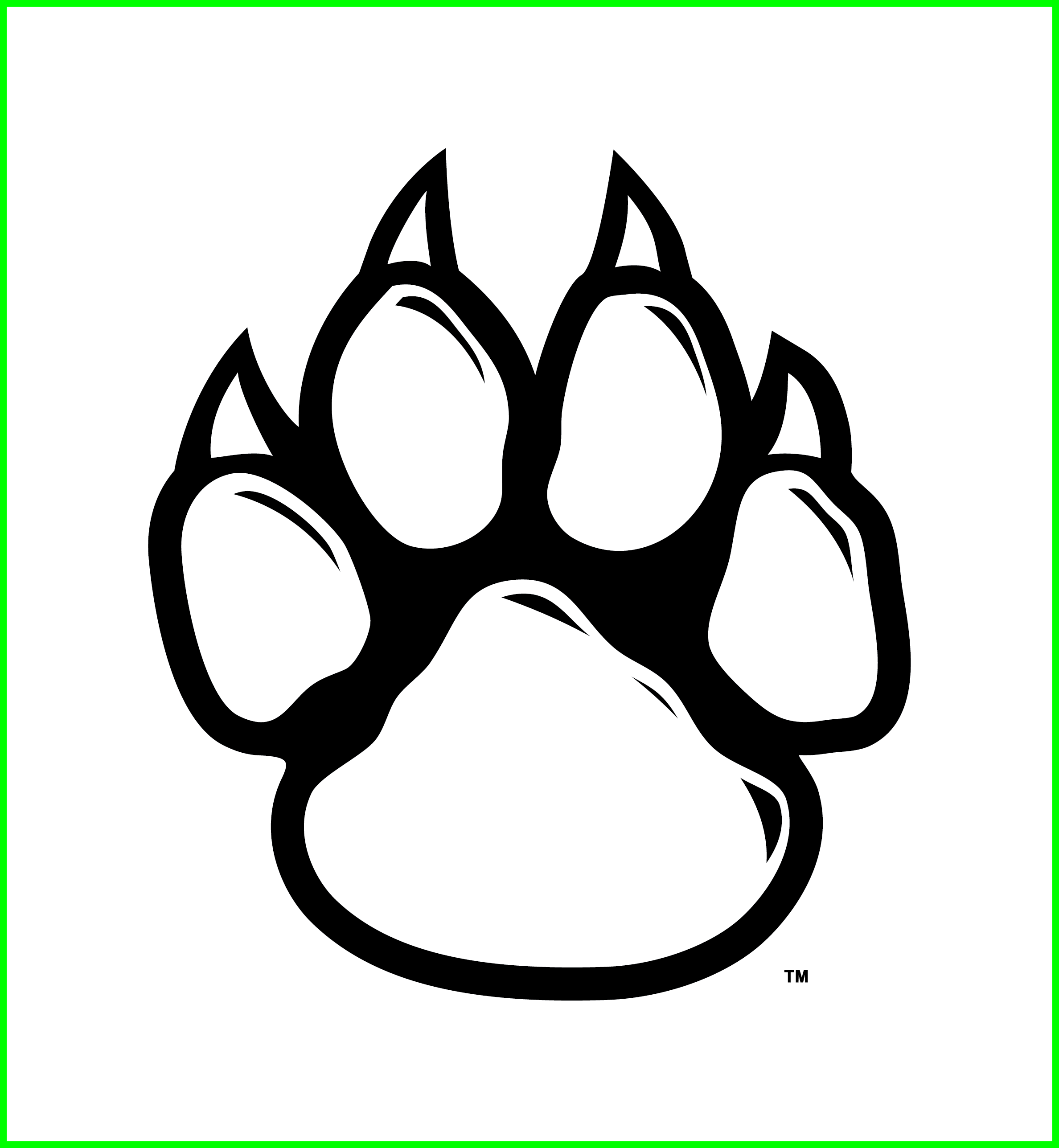 ideas of lion. Wolf clipart paw print