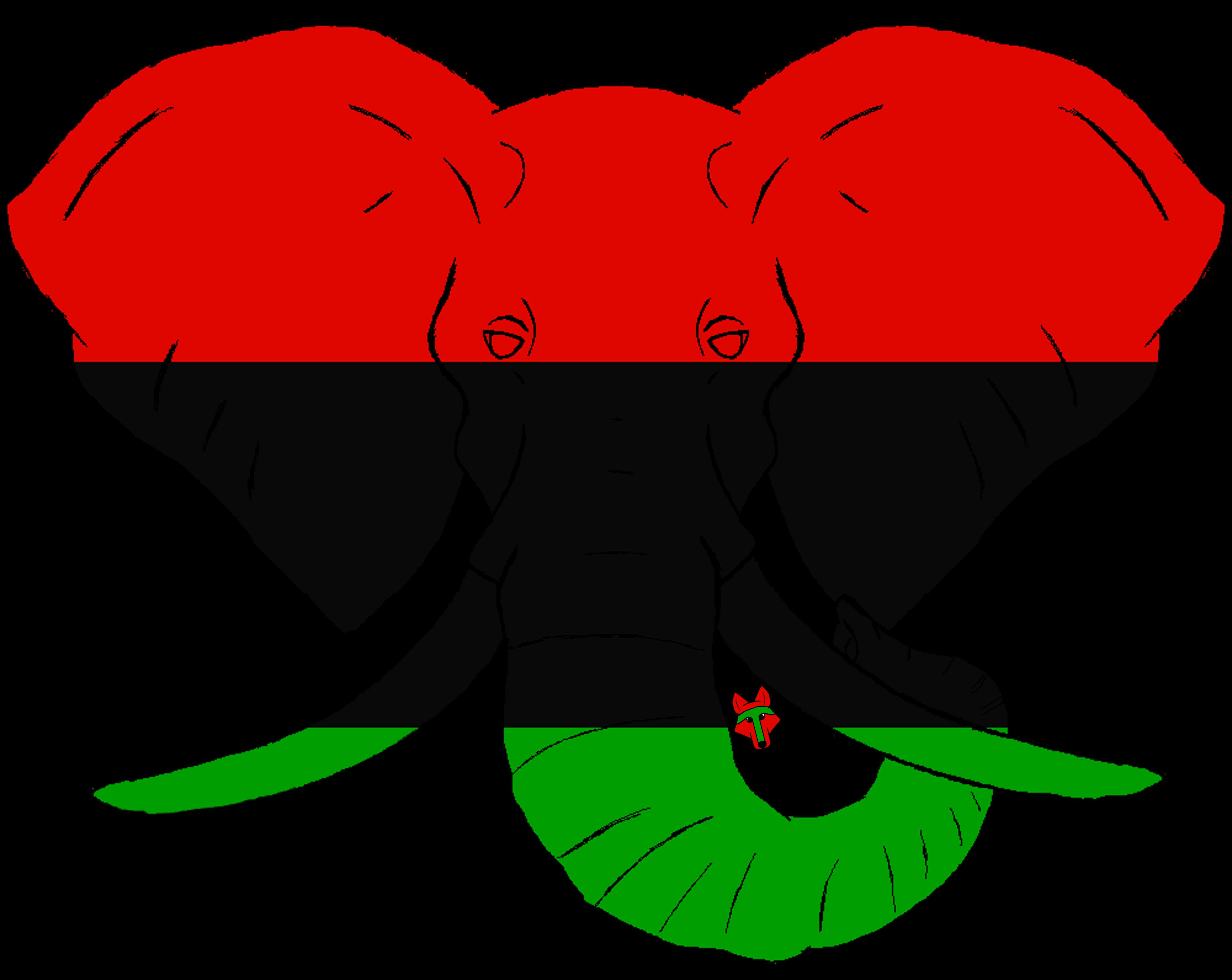 Wolves clipart boho. African elephant flag designed