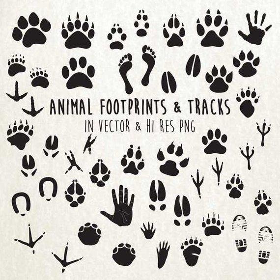 Paw print tracks . Pawprint clipart animal