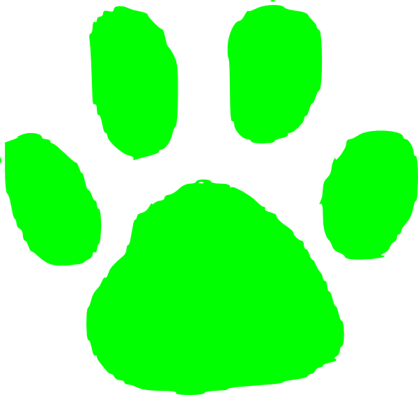 Paws clipart green dog. Pawprint clip art at