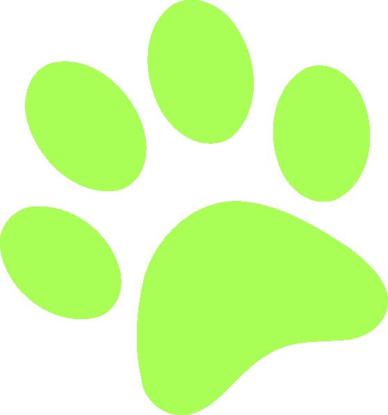 Green paw print ii. Pawprint clipart logo