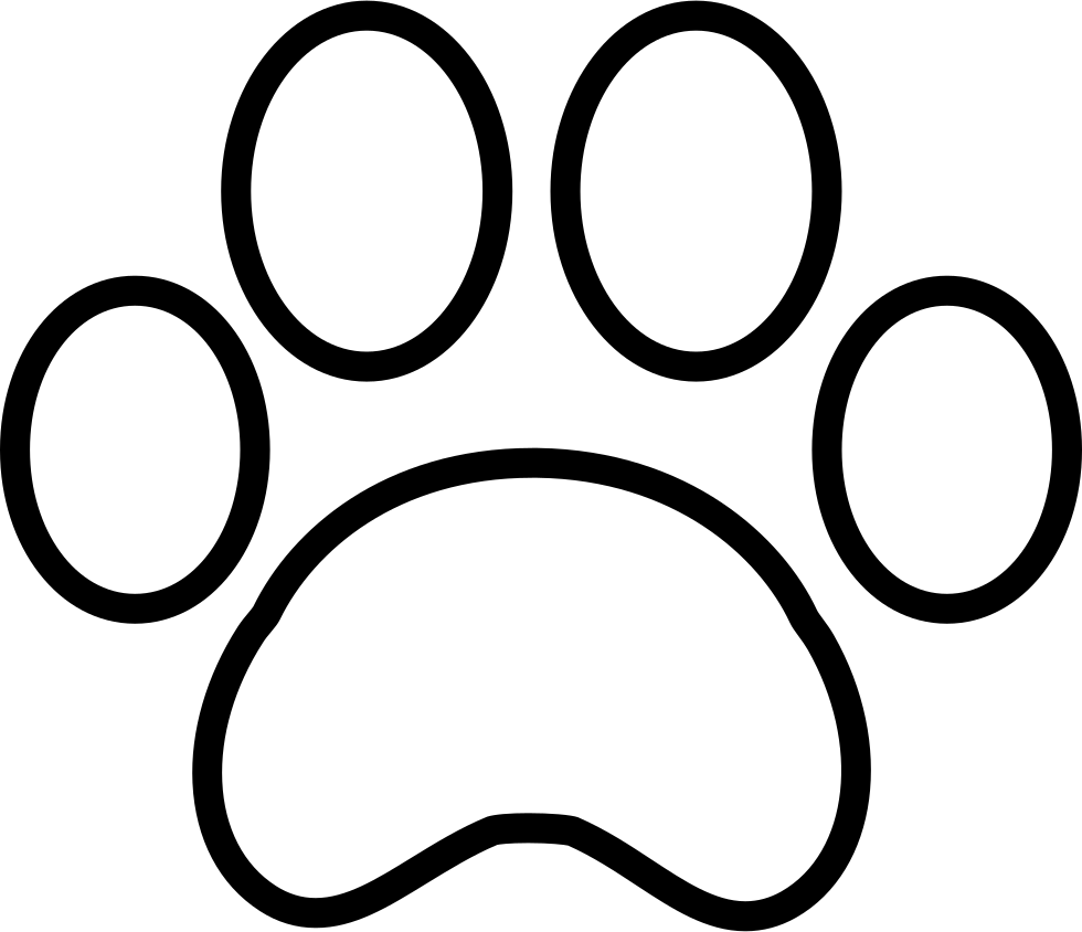 White paw print png. Pawprint clipart svg