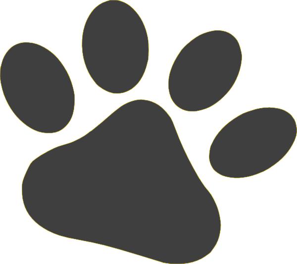 Pet clipart paw. Gray clip art at