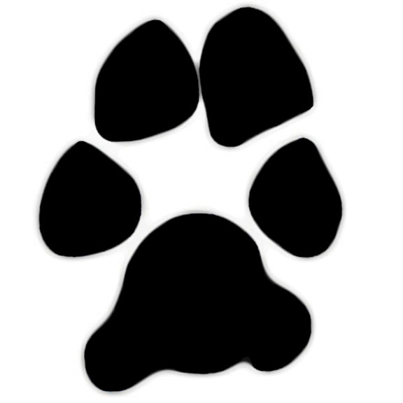 Pawprint clipart pet. Dog paw print clip