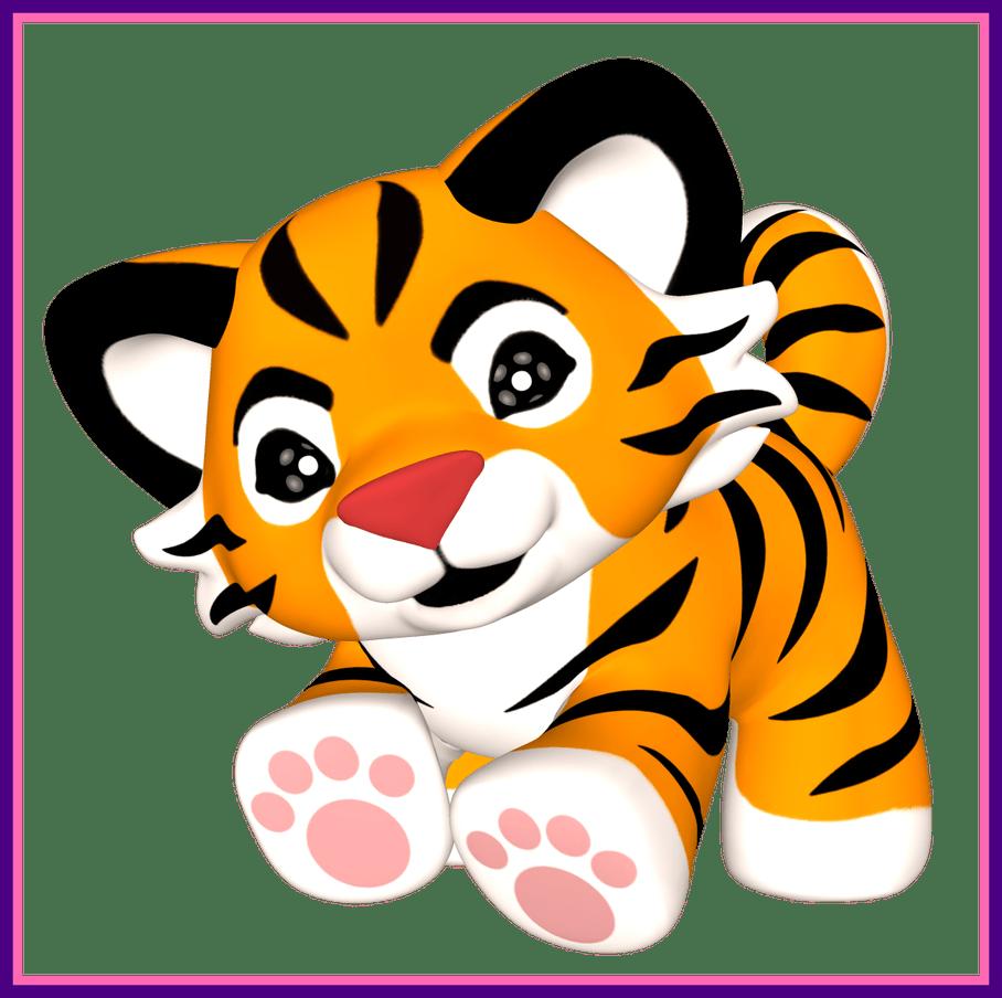 Astonishing tiger clip art. Paw clipart lion