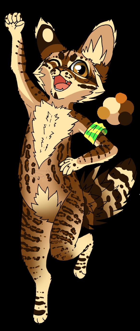 Mustela ocelot gray wolf. Paw clipart lynx