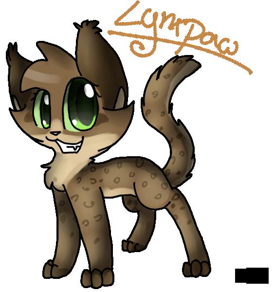 Paw clipart lynx. My warrior cat oc
