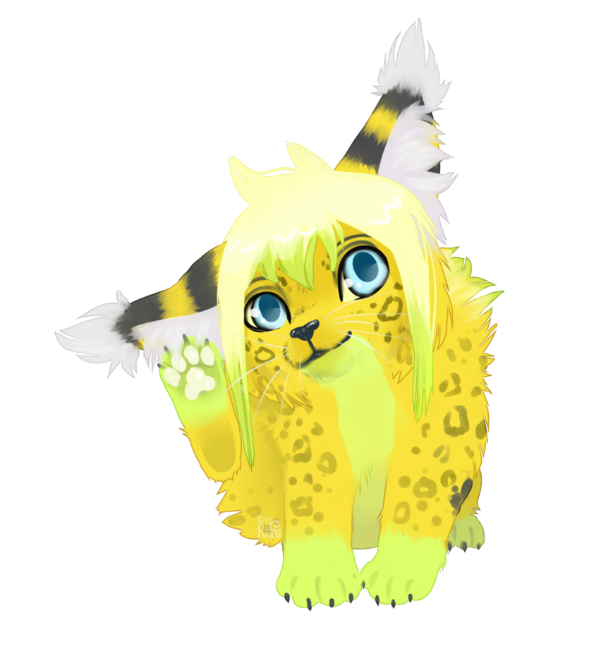 Paw clipart lynx. Lime by kraficat on