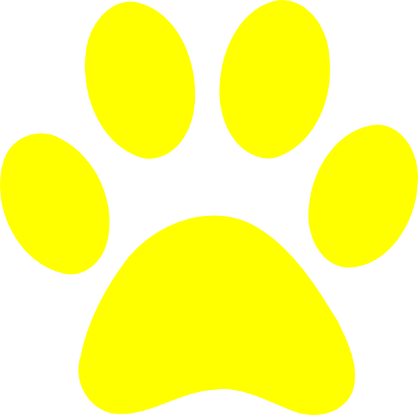 Pawprint clipart blue's clue. Blues clues yellow paw
