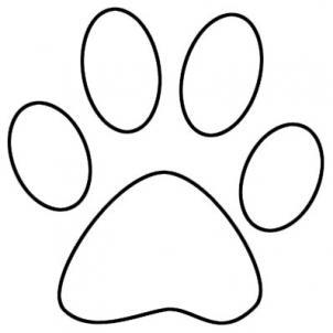 pawprint clipart line art
