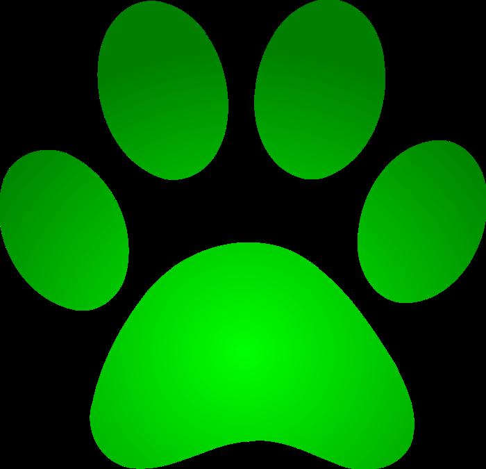 Pawprint clipart chihuahua. Green dog paw clip